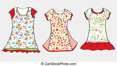 Dresses and t-shirt design for girl child