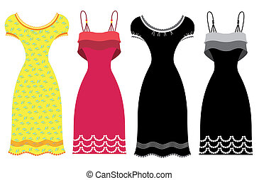 Dresses isolated