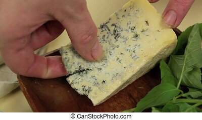 Dressing A Salad - Dressing a salad with blue cheese and...