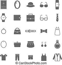 Dressing icons on white background