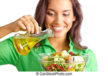 Dressing salad