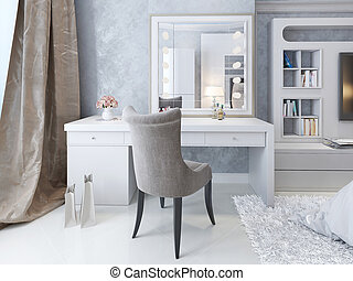 Dressing table Art Deco style, 3d picture