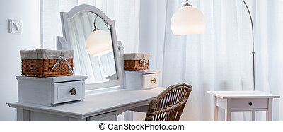 Dressing table in bedroom
