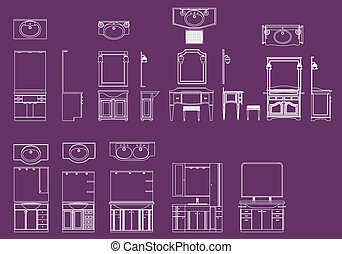 Dressing table vector