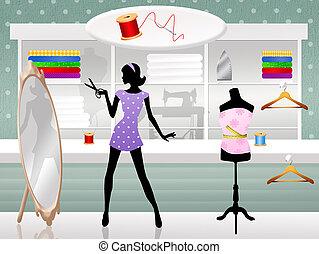 Dressmaker - illustration of dressmaker