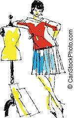 Dressmarker - Worker vector illustraton