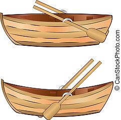 drewniana łódka