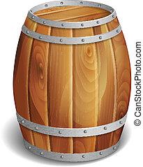 drewniana baryłka