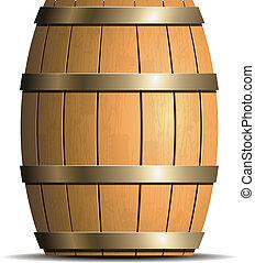 drewniana baryłka, wektor