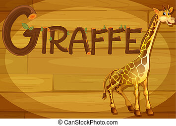 drewniana budowa, żyrafa
