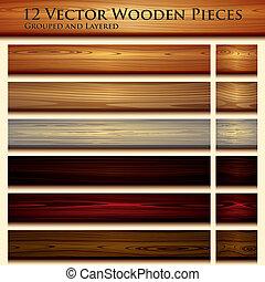 drewniana budowa, tło, ilustracja, seamless