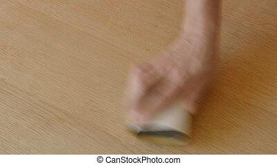 drewniana deska, sanding