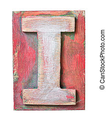drewniany, alfabet