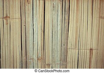 drewniany, bambus, struktura, tło