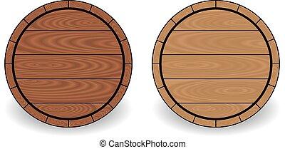 drewniany, baryłki