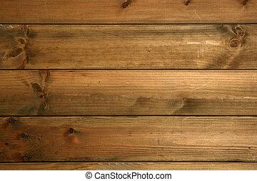 drewniany, brunatne tło, struktura, drewno