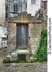 drewniany, door.