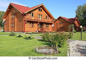 drewniany, dwelling-house.