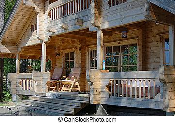 drewniany, kabina