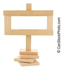 drewniany, kopia, czysty, tabliczka, przestrzeń
