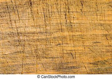 drewniany, kreska, cięty, sędziwy, tło