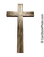 drewniany, krucyfiks