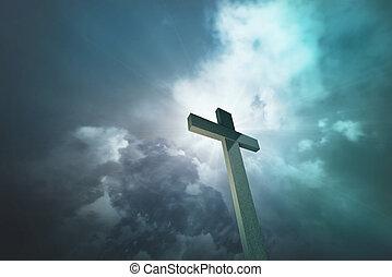 drewniany, krzyż 1