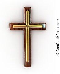 drewniany, krzyż