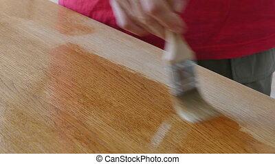 drewniany, lakiernictwo, deska