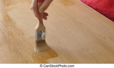 drewniany, malarstwo, deska