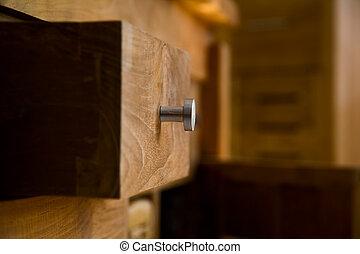 drewniany, meble
