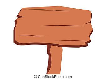 drewniany, odizolowany, poznaczcie deskę, tło, biały