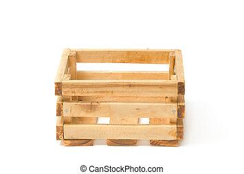 drewniany, owoc, paka, opróżniać