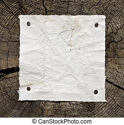 drewniany, papier, stary, tło
