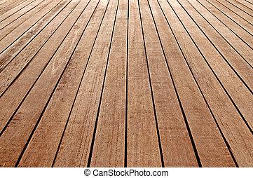 drewniany, perspektywa, podłoga