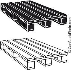 drewniany, siennik, symbol, czarnoskóry