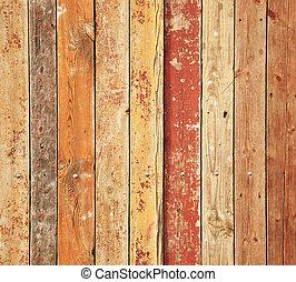drewniany, stary, deski, struktura