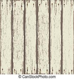 drewniany, stary, płot