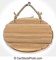 drewniany, stołownik, cykl, znak