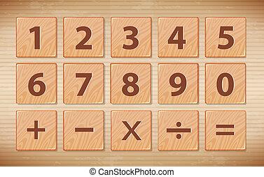 drewniany, symbol, chrzcielnica, liczba