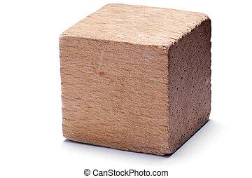 drewniany, sześcian