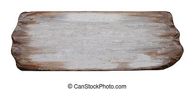 drewniany, szyld, deska, znak