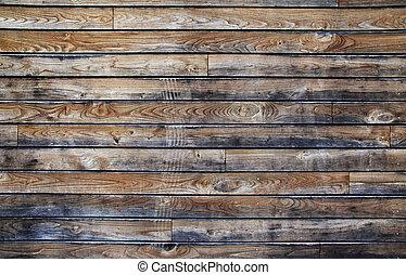 drewniany, tło., stary, budowa, textured