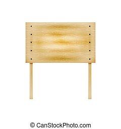 drewniany, tablica ogłoszeń, wektor, ilustracja