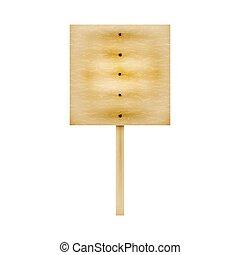 drewniany, wektor, deska, ilustracja