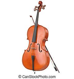 drewniany, wiolonczela, klasyczny
