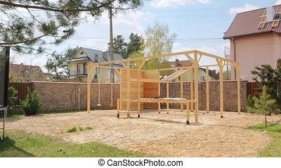 drewniany, wyposażenie, sport