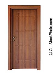 drewno, drzwi