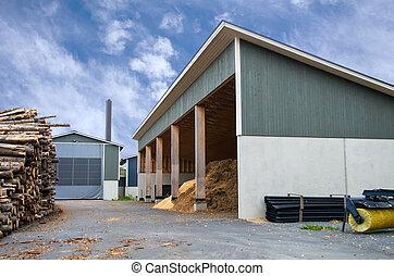 drewno obstukuje, kloce, biofuel