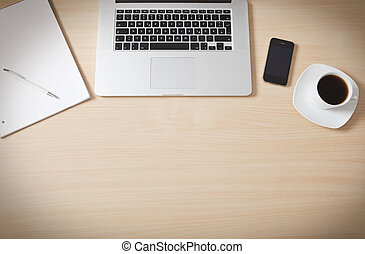 drewno, powierzchnia, biurko